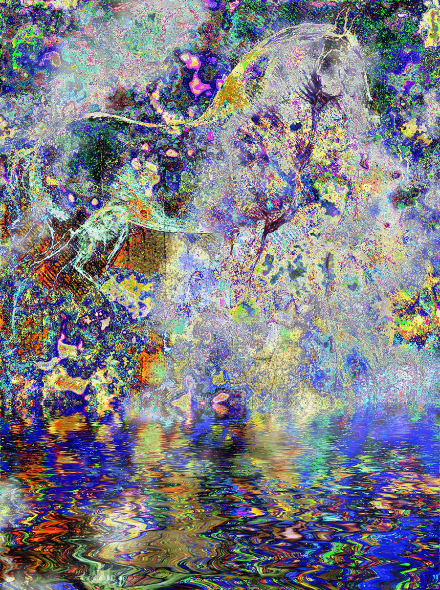 Horse In Paradise artwork by Leonardo In Digital - art listed for sale on Artplode