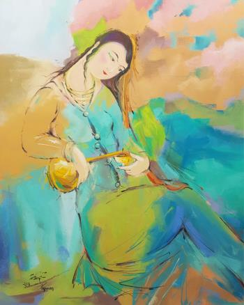 Lovely Woman artwork by Payman Shaykholeslam - art listed for sale on Artplode