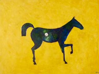 Yellow Horse artwork by Susan Proctor Hume - art listed for sale on Artplode