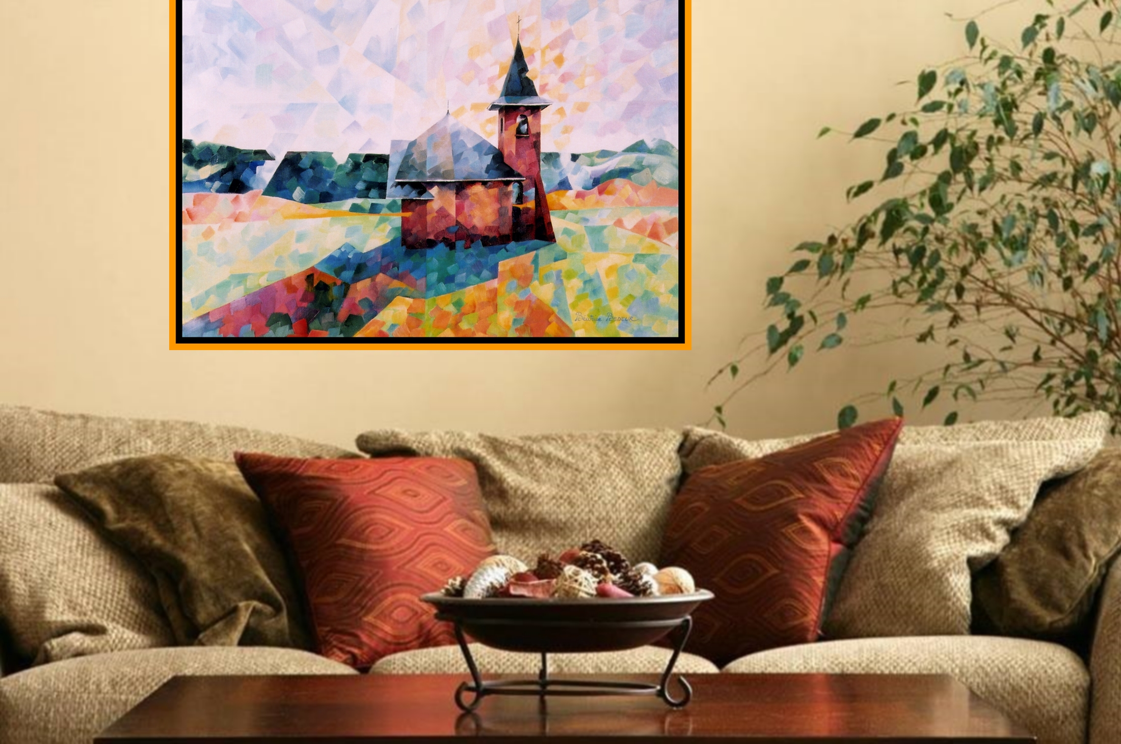 Chapelle de My artwork by Beatrice BEDEUR - art listed for sale on Artplode