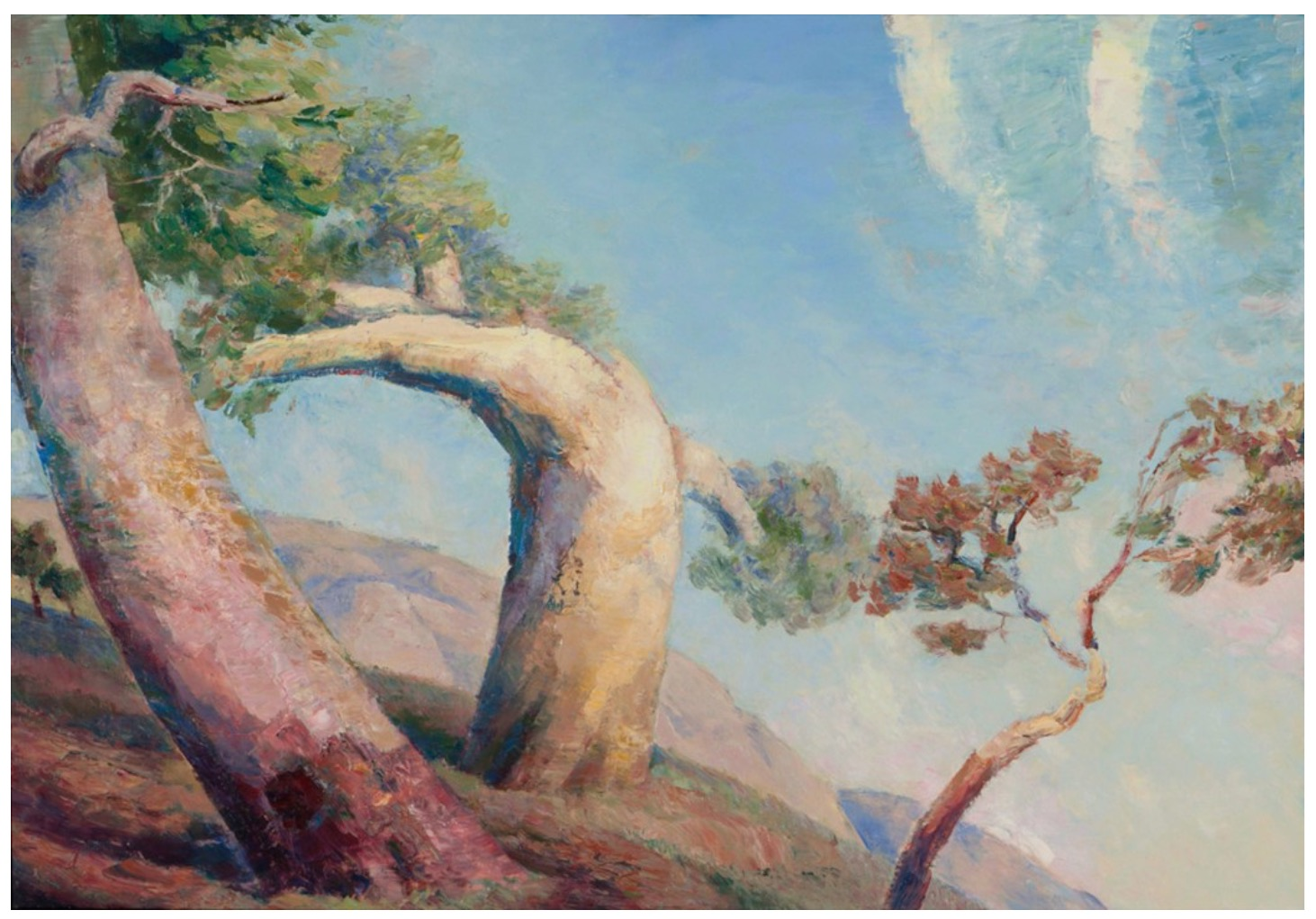 The three trees artwork by Chi Zhao - art listed for sale on Artplode