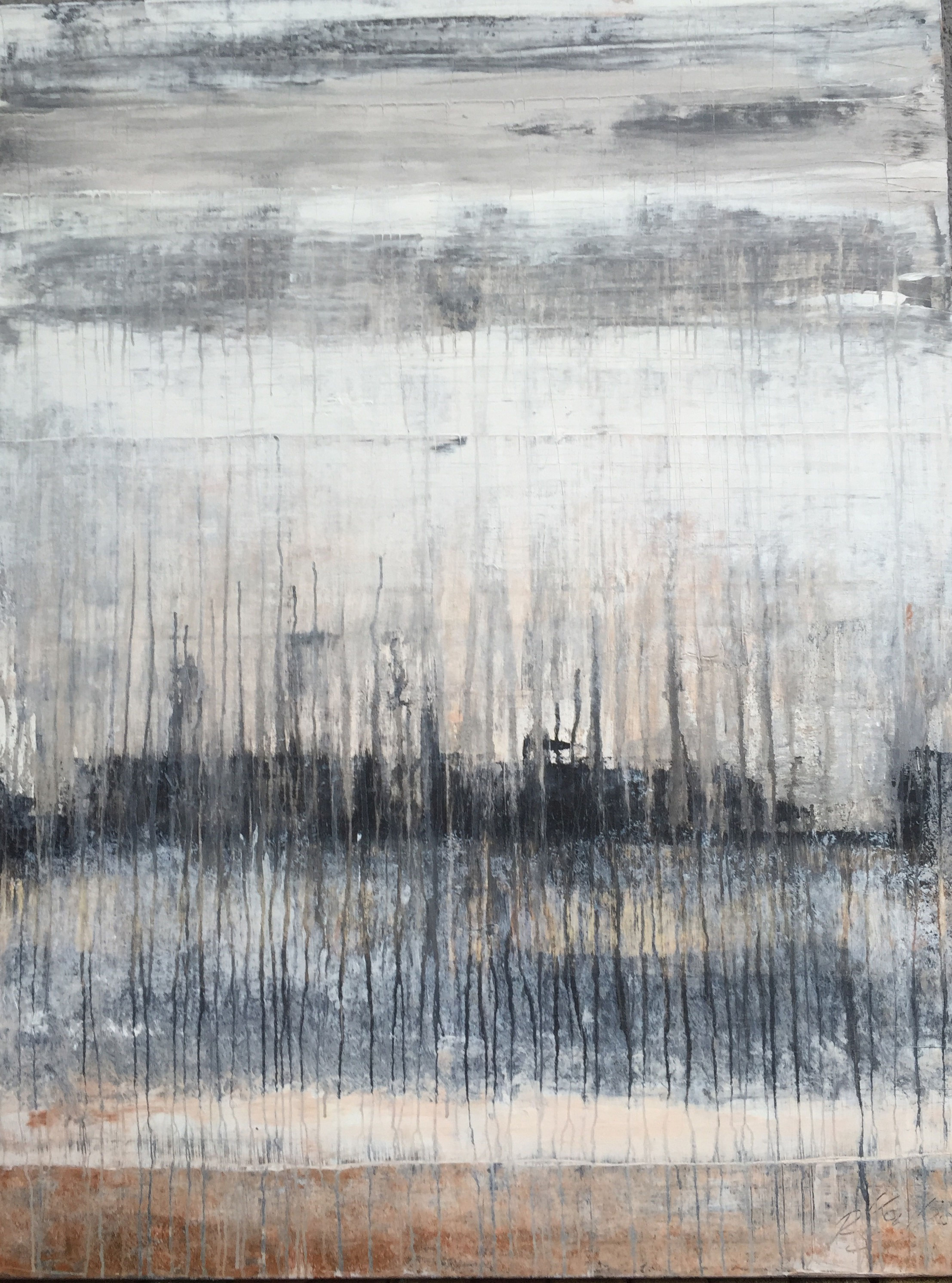 S 3 Abstract Exclusive Gray artwork by Roger Koenig - art listed for sale on Artplode