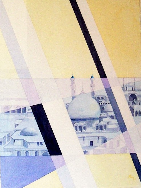 Barriers against my dreams artwork by Ilham Majure - art listed for sale on Artplode