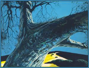 Distant Meadow artwork by Eyvind Earle Earle - art listed for sale on Artplode