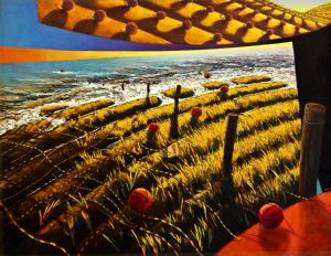 Lands End, art for sale online by Barry Scharf