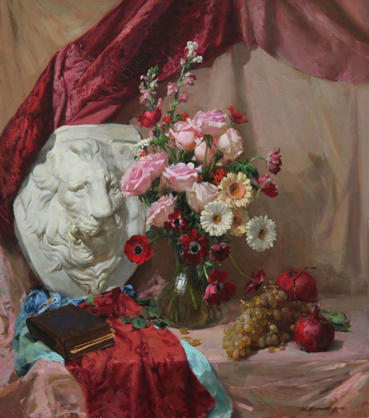 Variation with flowers artwork by Gilberto Geraldo - art listed for sale on Artplode