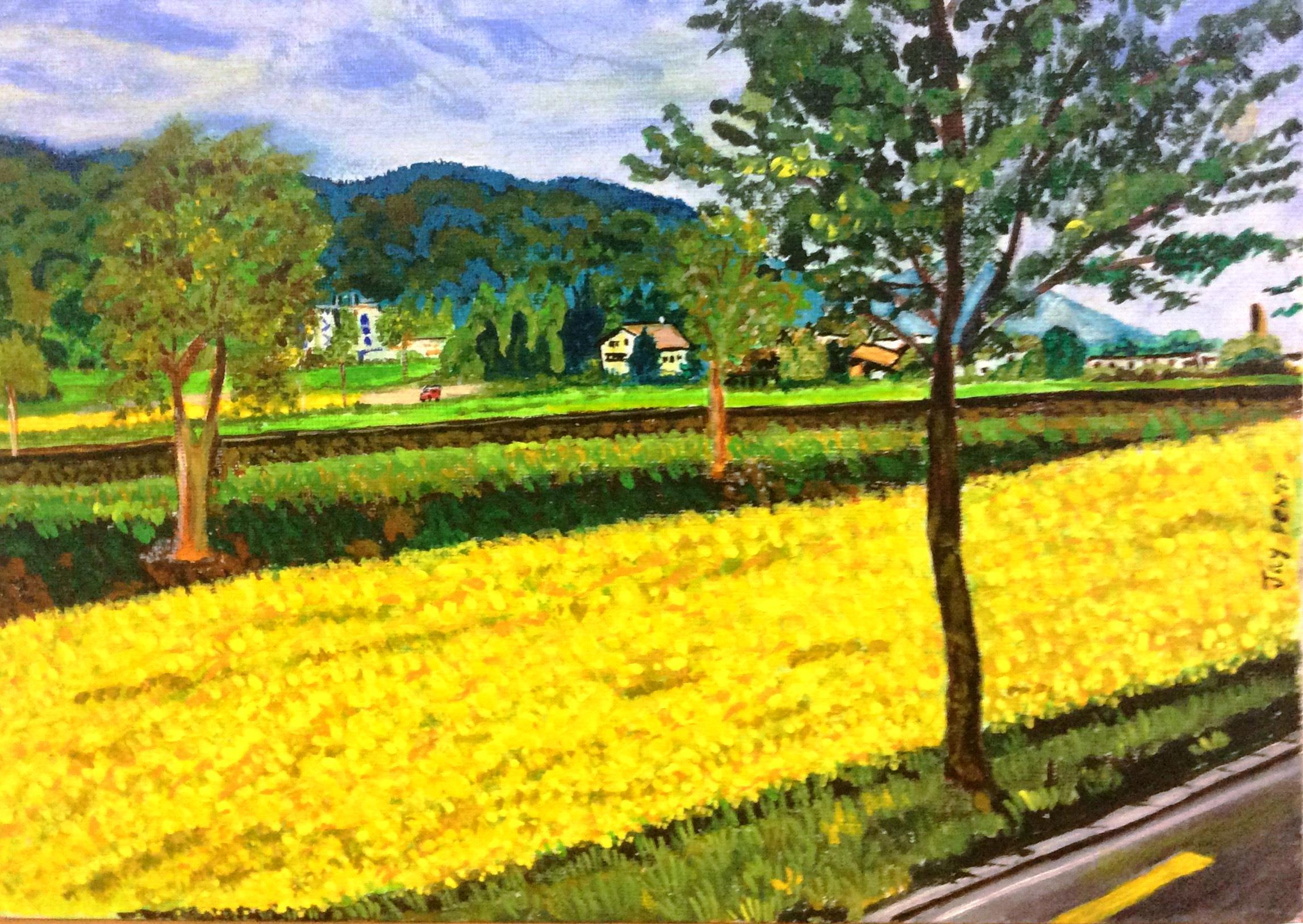 Mustard Flower Carpet artwork by Jay Jay - art listed for sale on Artplode