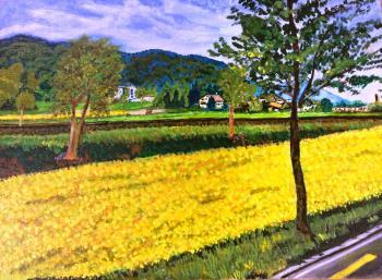 Mustard Flower Carpet artwork by Jay Jay