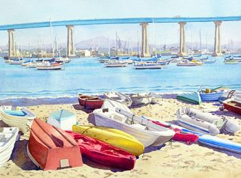 New Tidelands Park Coronado, art for sale online by Mary Helmreich