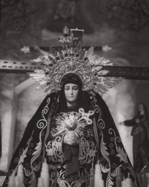 Virgin of the pains in La Veracruz church, art for sale online by Juan Borja