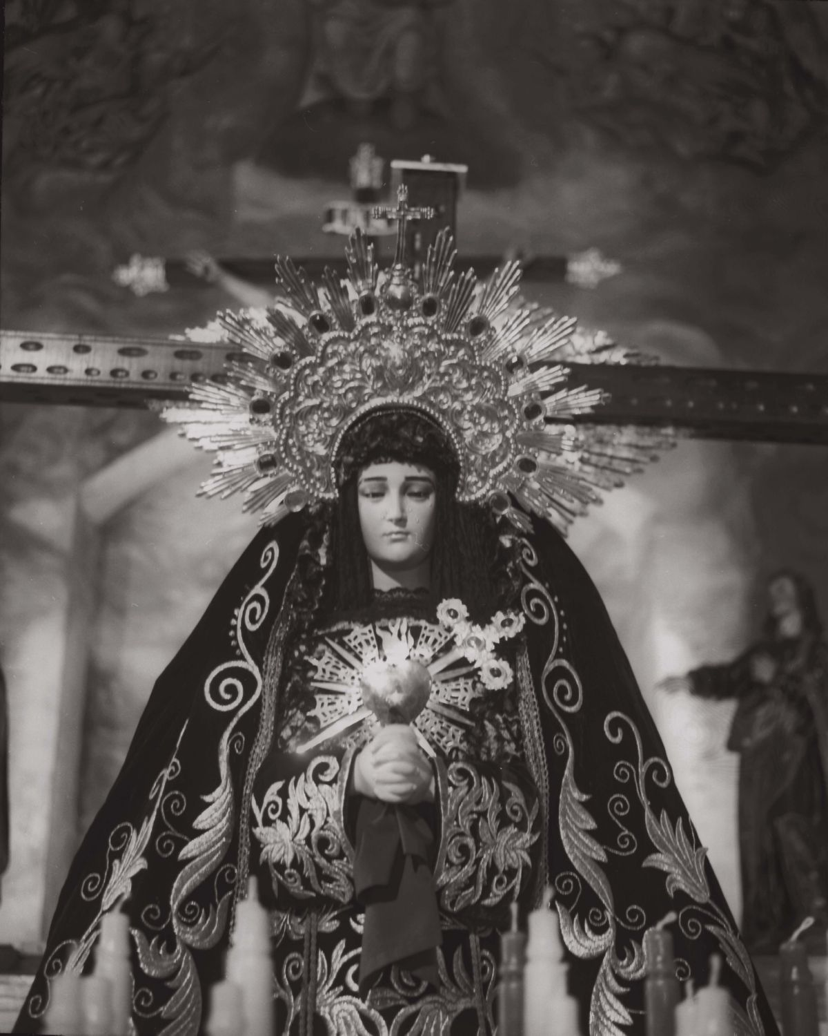 Virgin of the pains in La Veracruz church artwork by Juan Borja - art listed for sale on Artplode