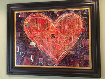 Hearts in Space artwork by Maria Reyes Jones