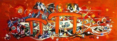 The Mystery of Malta Pi and Me artwork by Hlde Gustava Ovesen - art listed for sale on Artplode