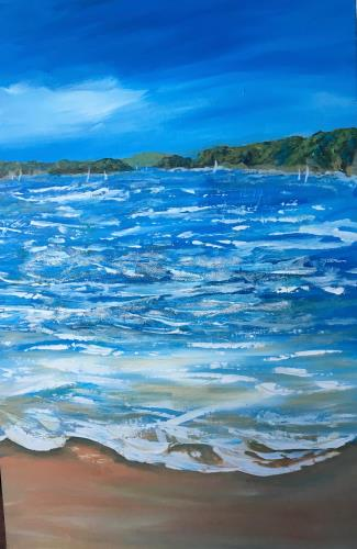 Sea and sand, art for sale online by Penny Wilton