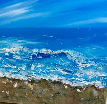 Sea and sand artwork by Penny Wilton