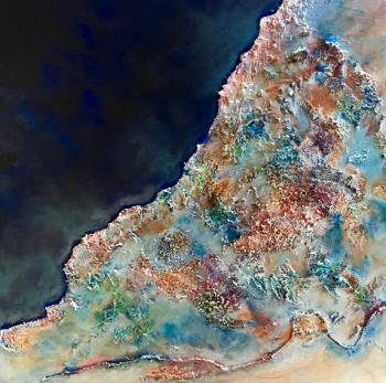 Sea and sand artwork by Penny Wilton - art listed for sale on Artplode