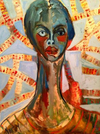 Portrait of Sylvie, art for sale online by Ginny