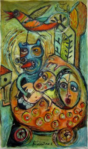 Family, art for sale online by Rita Ventura