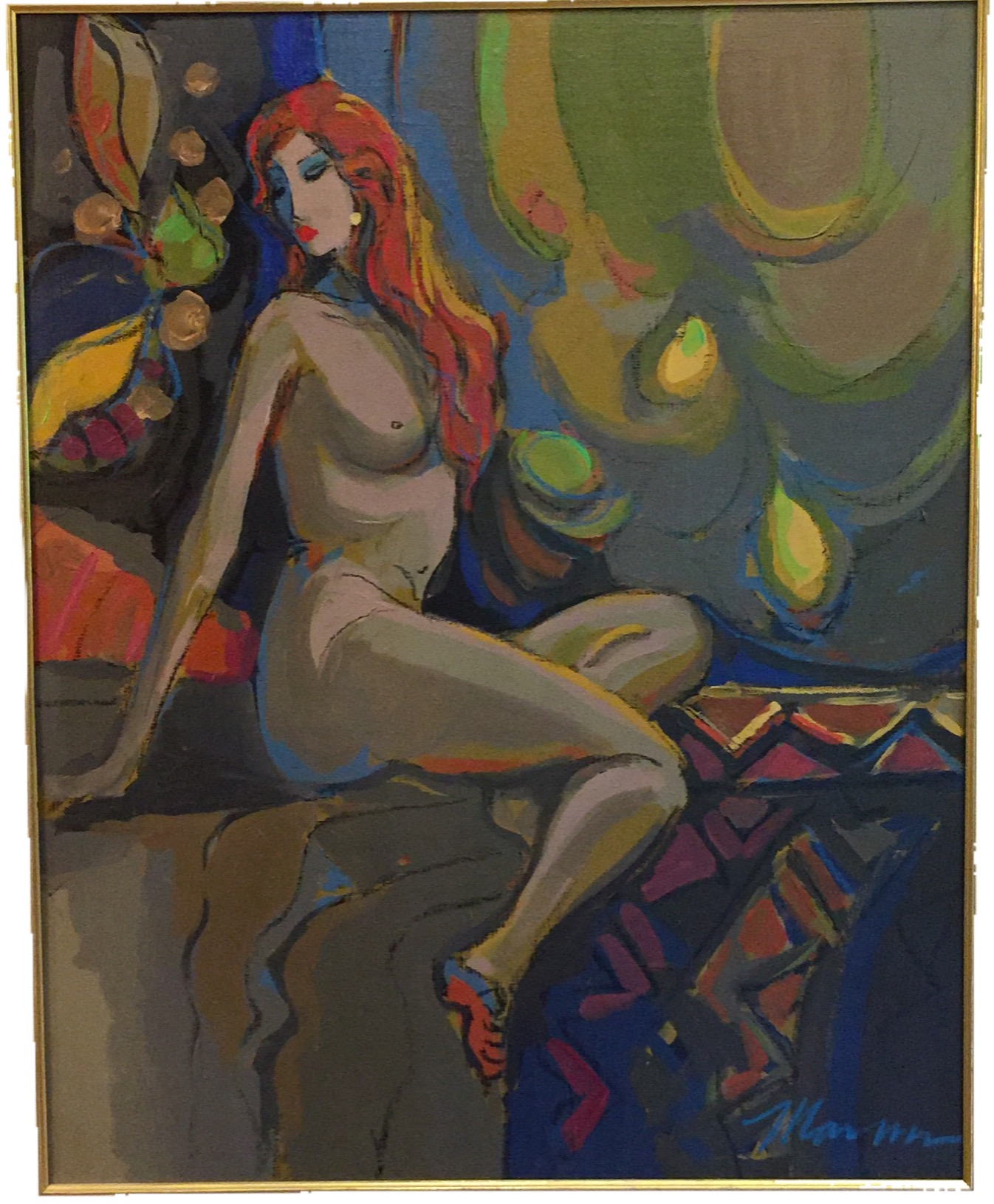 La Figure Nue 1 artwork by Isaac Maimon - art listed for sale on Artplode