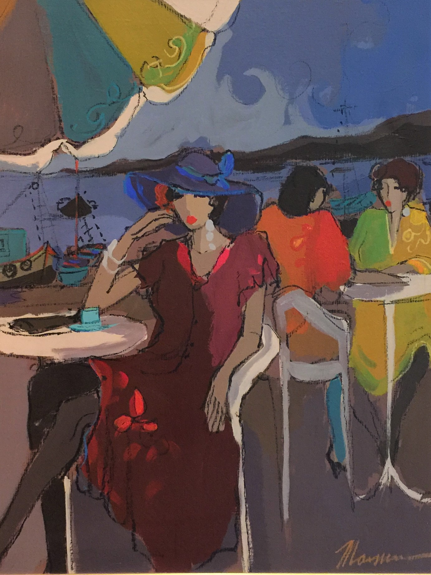 Portofino Evening artwork by Isaac Maimon - art listed for sale on Artplode
