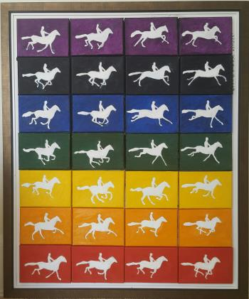 Galloping Horses, art for sale online by Gwynne Robins