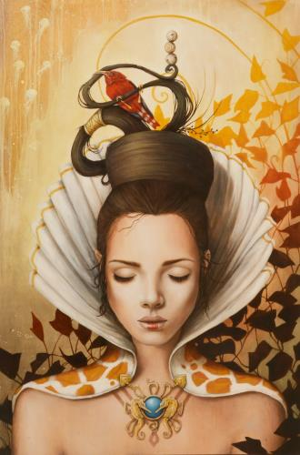 La fille de l eau, art for sale online by Sophie Wilkins