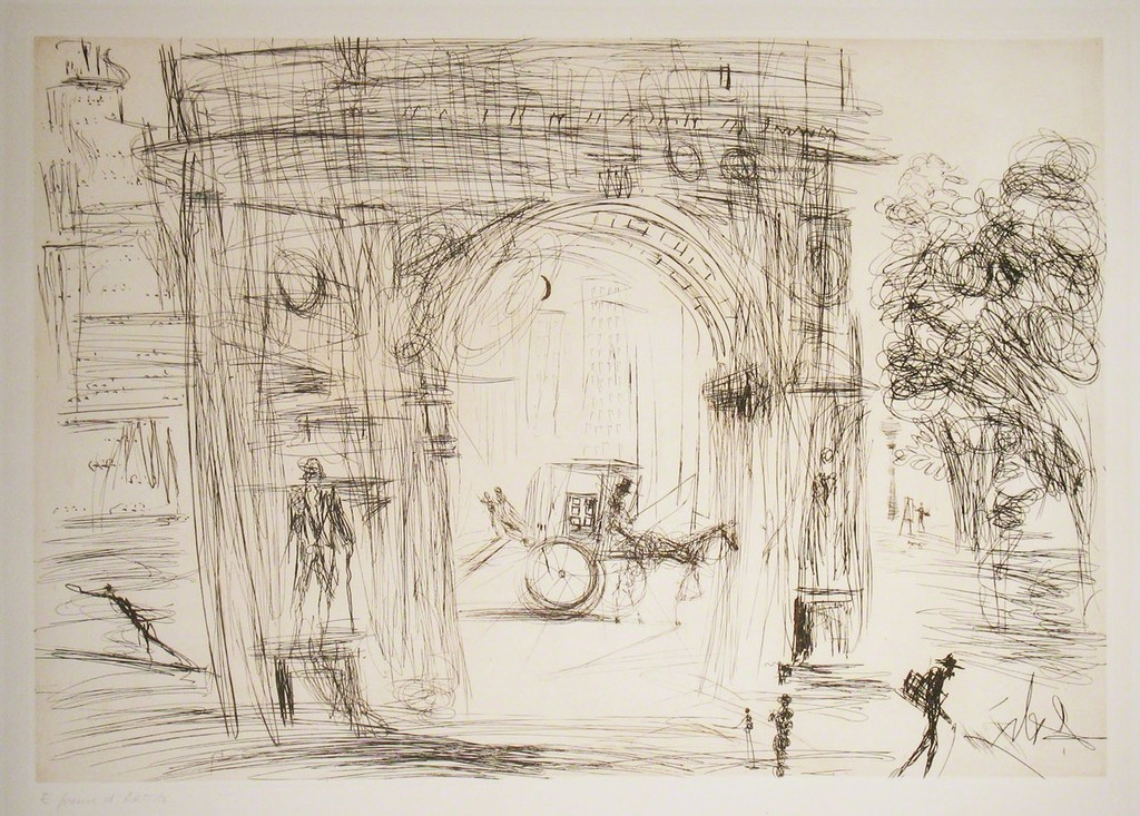 Washington Gate artwork by Salvador Dali - art listed for sale on Artplode