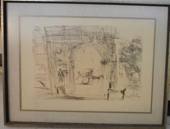 Washington Gate artwork by Salvador Dali