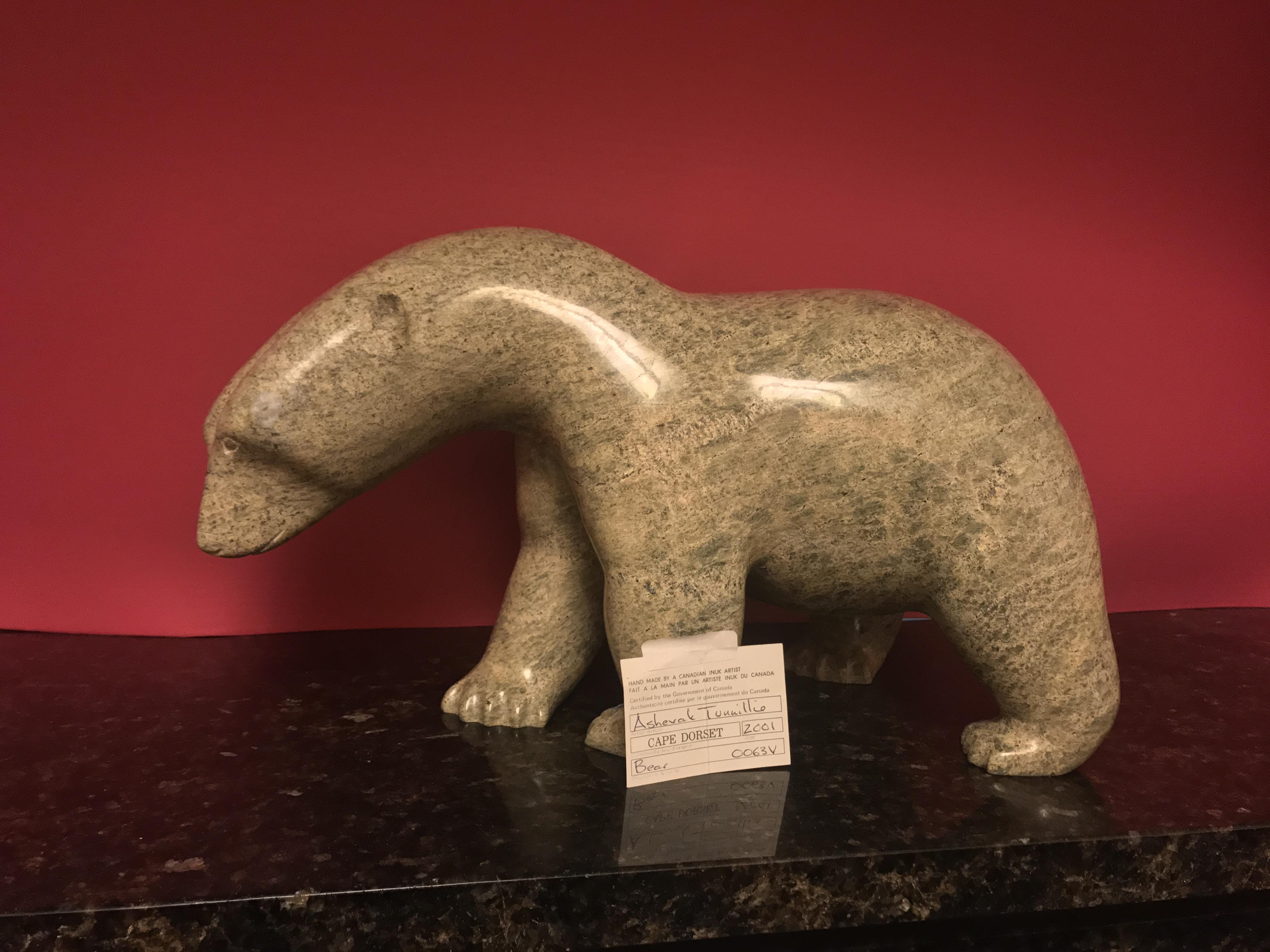 Bear artwork by Ashevak Tunnillie - art listed for sale on Artplode