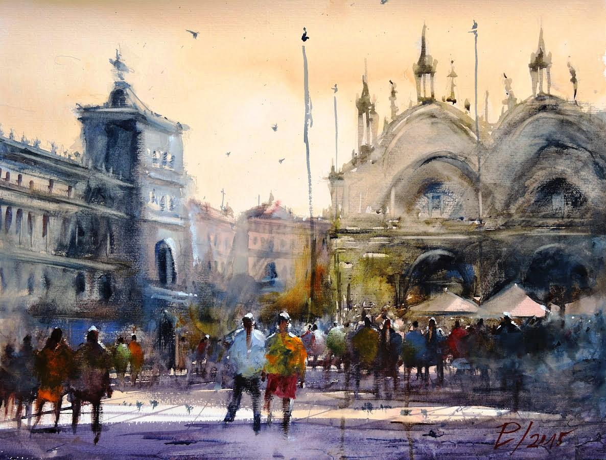Venice artwork by Laszlo Pomothy - art listed for sale on Artplode