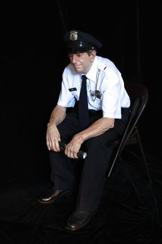 Seated Security Guard, art for sale online by Marc Sijan