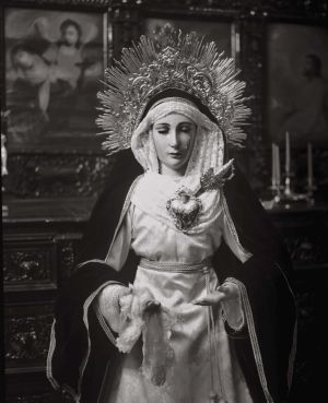 Virgin of the pains in San Marcelo church, art for sale online by Juan Borja