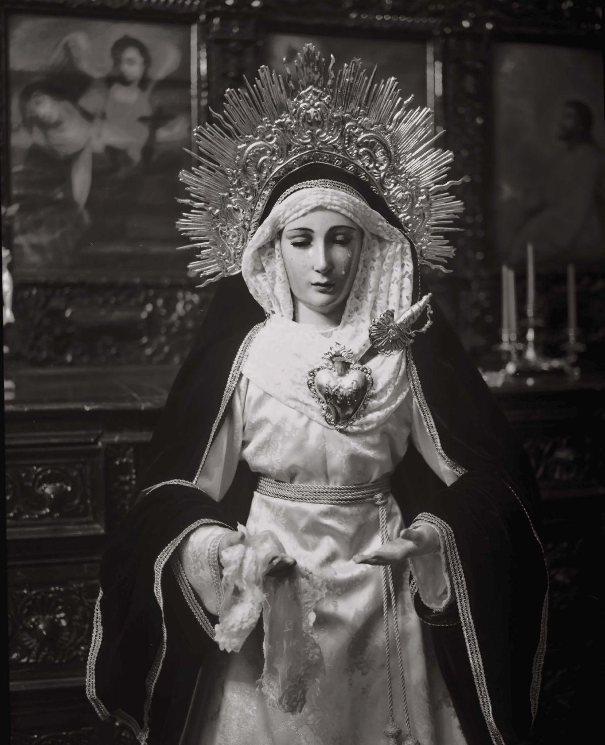 Virgin of the pains in San Marcelo church artwork by Juan Borja - art listed for sale on Artplode