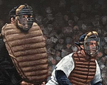 Gehrig crushed one in Cleveland artwork by Paul Lempa