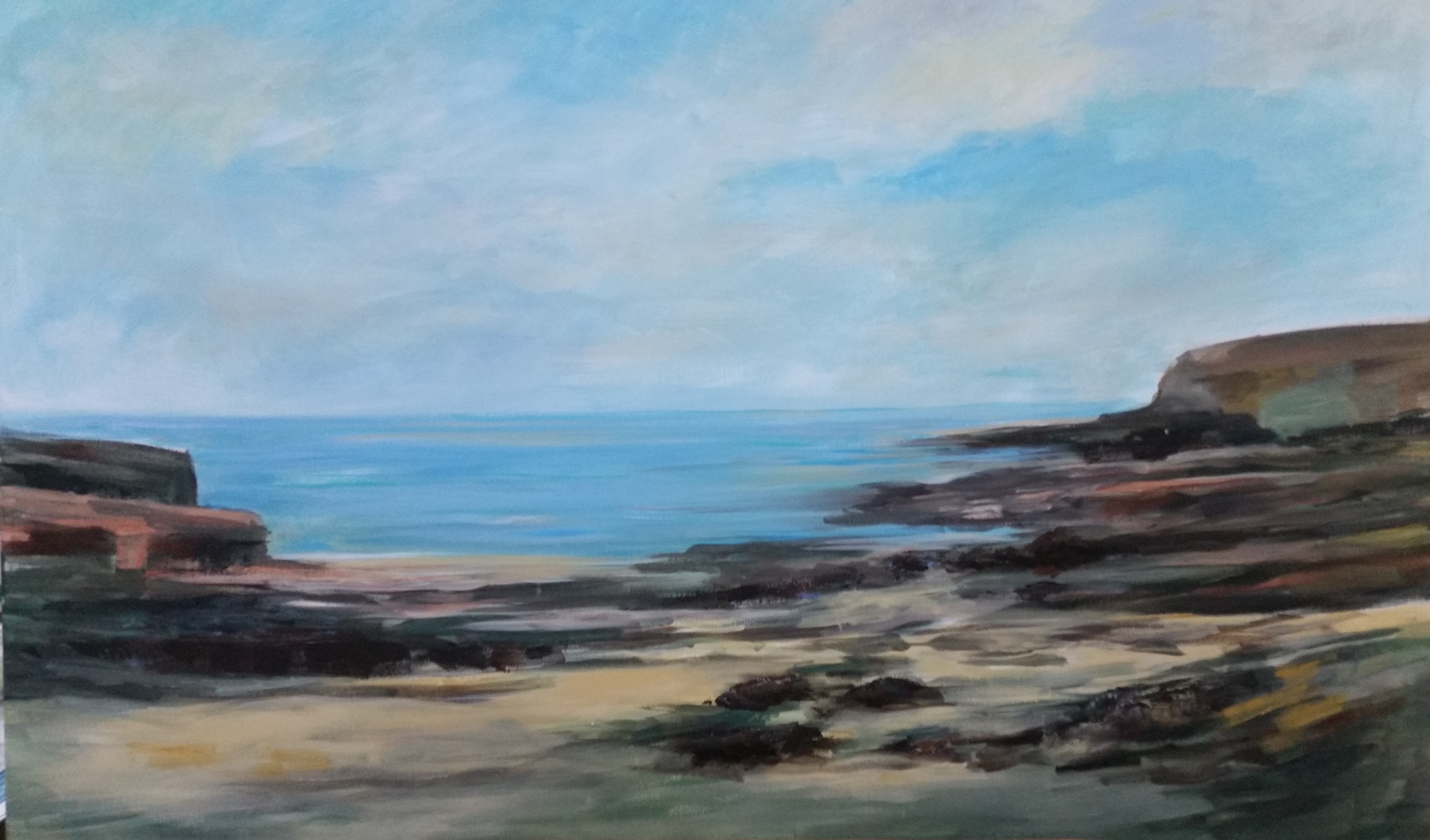 Seascape artwork by ROMAINE KAUFMAN - art listed for sale on Artplode
