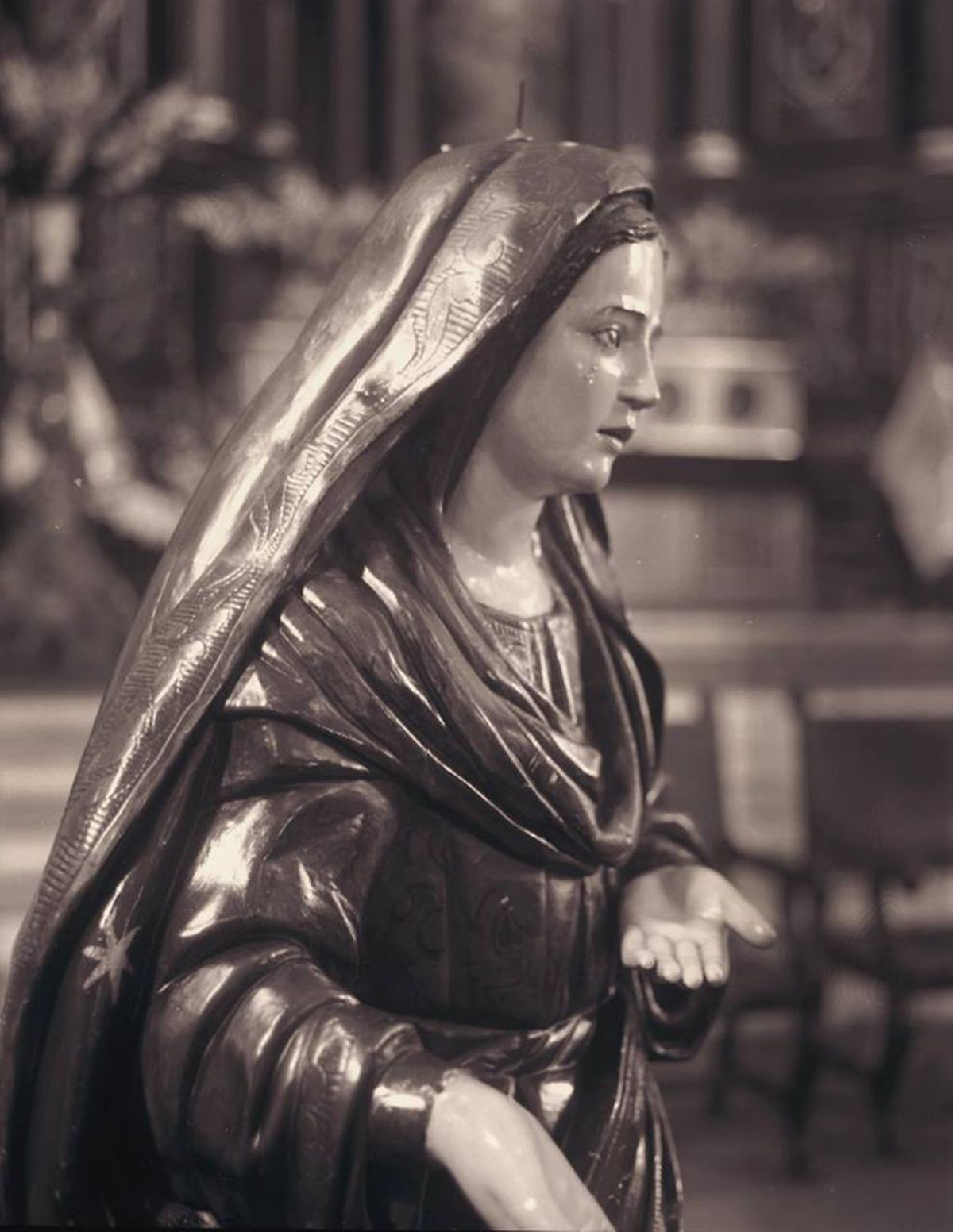 Virgin in San Francisco Church artwork by Juan Borja - art listed for sale on Artplode