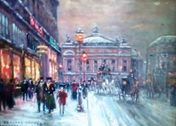 Paris at Night, art for sale online by Eduardo Cortes
