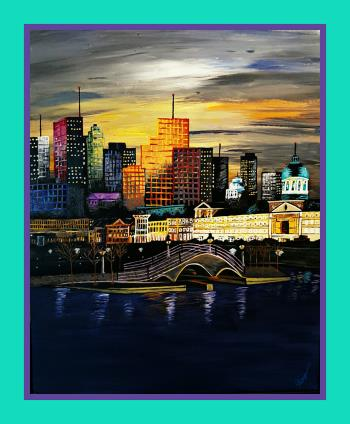 Big Easy at Night, art for sale online by Tammy Bijou