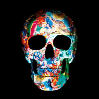 9 Dimensions of the Skull II, art for sale online by Thomas Bijen 1980