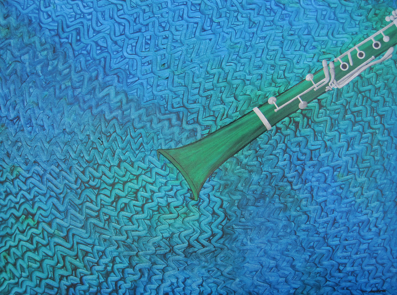 Clarinete de Mar artwork by Anushree Krementz - art listed for sale on Artplode