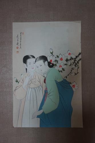 Antique korea painting artwork by unknown