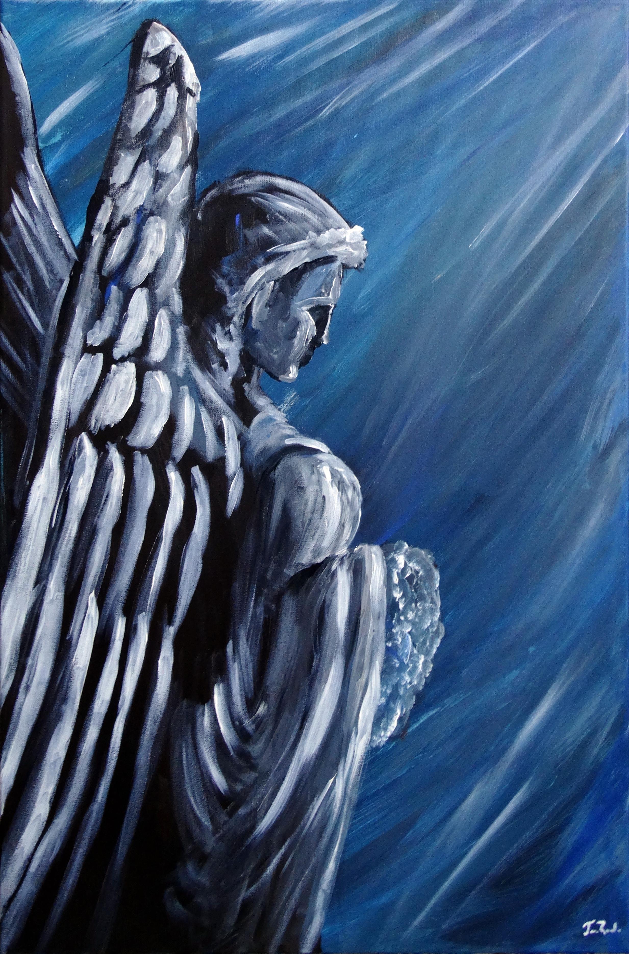 Blue Angel artwork by Jose Ronaldo Pinheiro Carneiro Filho - art listed for sale on Artplode