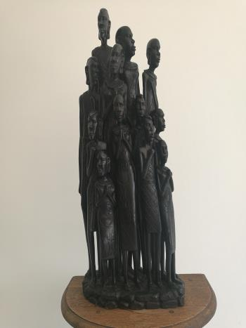 Statue of Tanzanian Family, art for sale online by Costa Charles Bwaluka