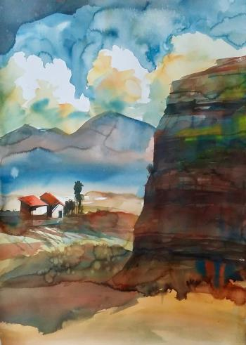 Thirsty Land, art for sale online by Louis Venter