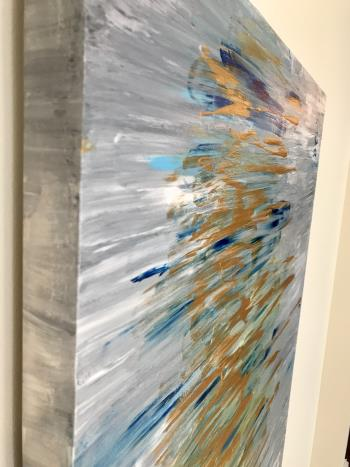 Cold Gold artwork by Janine Cygan - art listed for sale on Artplode