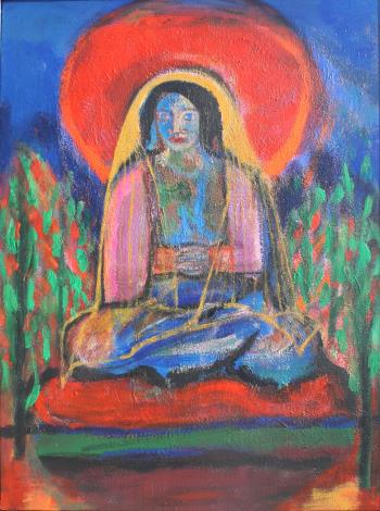 Mother Figure in Meditation, art for sale online by Joe McGee