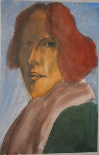 Oscar Wilde, art for sale online by Leonard Baskin