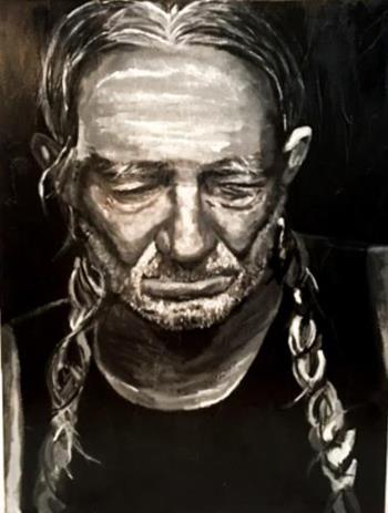 PENSIVE WILLIE, art for sale online by Amy Tyndell