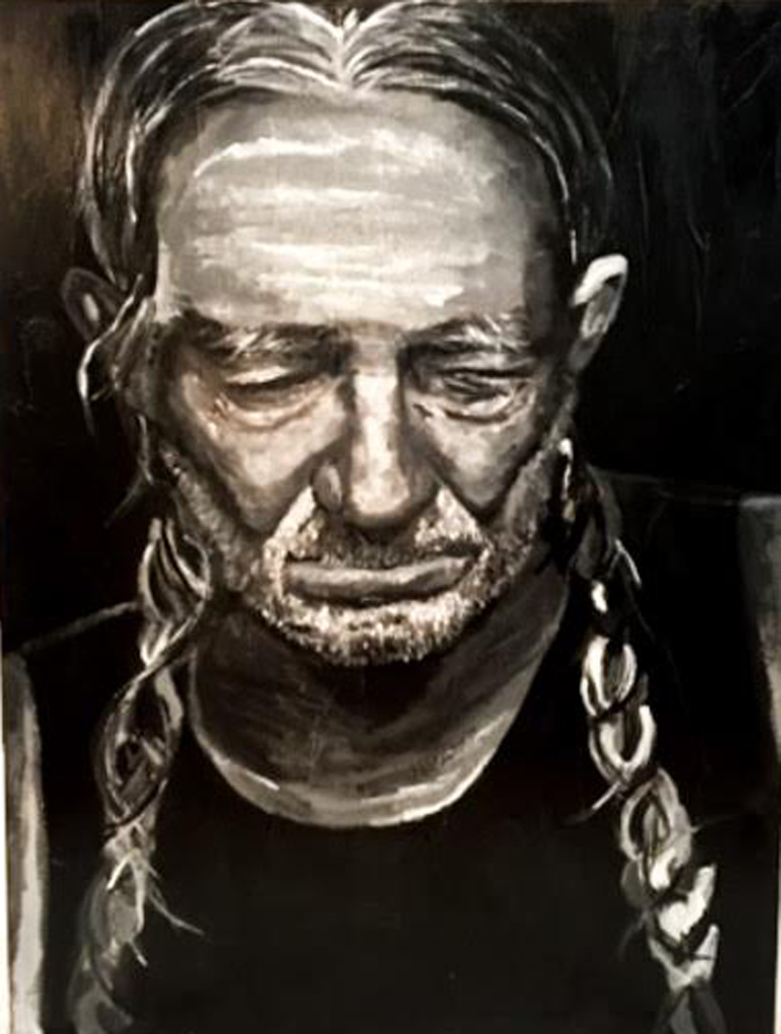 PENSIVE WILLIE artwork by Amy Tyndell - art listed for sale on Artplode