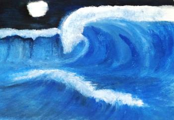 Waves, art for sale online by Sana